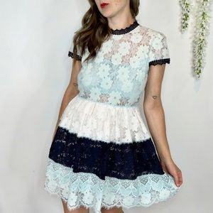 "NWT FOXIEDOX ""Amelia"" fit & flare dress lace"